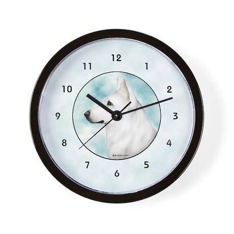 White Shepherd Wall Clock