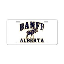 Banff Moose Aluminum License Plate