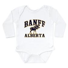Banff Moose Long Sleeve Infant Bodysuit
