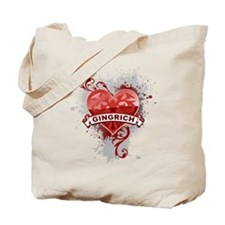 Love Newt Gingrich Tote Bag
