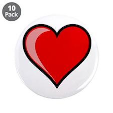 "Gel Heart Icon w/ black outline 3.5"" Button (10 pa"