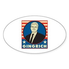 Retro Newt Gingrich Decal