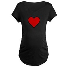 Plain Red Heart w/ black outline T-Shirt