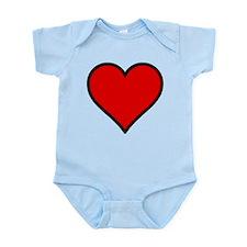 Plain Red Heart w/ black outline Infant Bodysuit