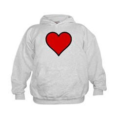 Plain Red Heart w/ black outline Hoodie