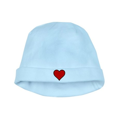 Plain Red Heart w/ black outline baby hat