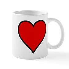 Plain Red Heart w/ black outline Mug