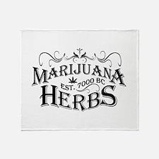 Herbs Throw Blanket