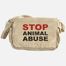 Stop Animal Abuse Messenger Bag