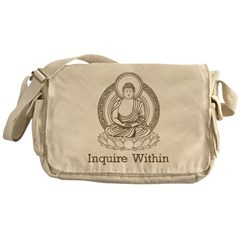 Vintage Buddha Inquire Within Messenger Bag