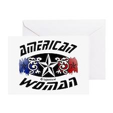 Unique American woman design Greeting Card