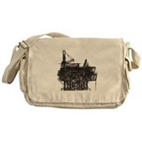 Vintage oil rig Canvas Messenger Bags