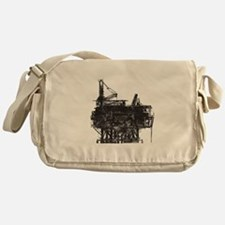 Vintage Oil Rig Messenger Bag