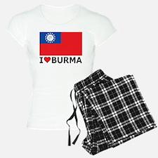 I Love Burma Pajamas