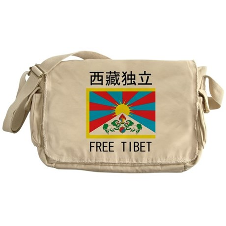 Free Tibet In Chinese Messenger Bag