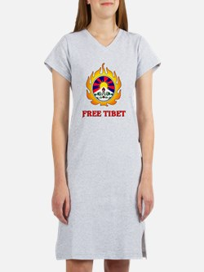 Flame Free Tibet Women's Nightshirt