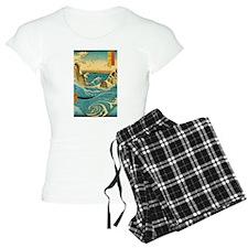 Hiroshige Navaro Rapids Pajamas