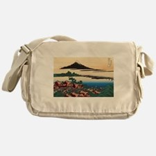Hokusai Dawn at Isawa Messenger Bag