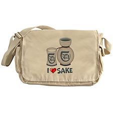 I Love Sake Messenger Bag