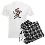 Graffiti Love Men's Light Pajamas