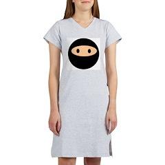 Cute Ninja Face Women's Nightshirt