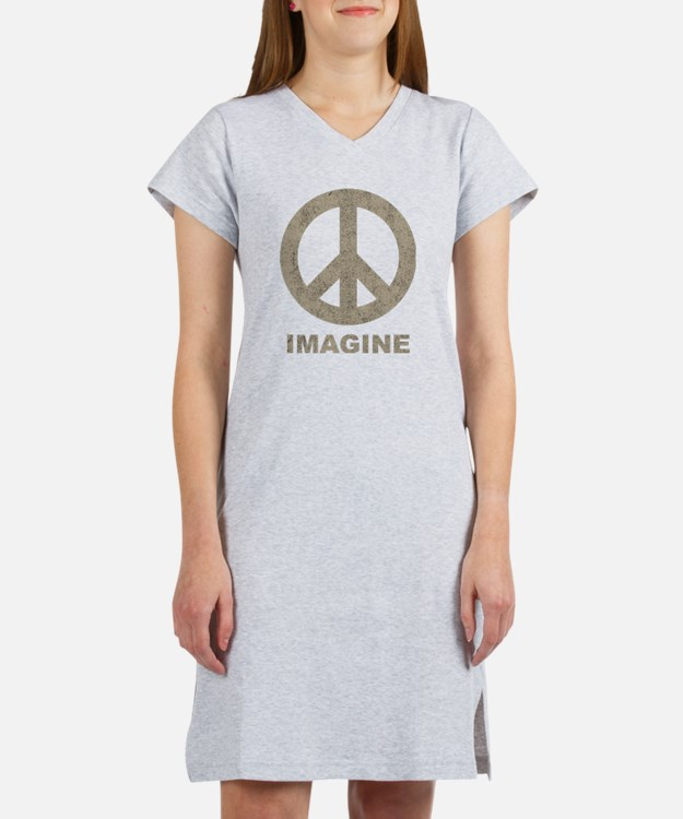 Vintage Imagine Peace Women's Nightshirt