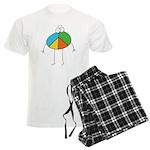 Peace Cartoon Men's Light Pajamas