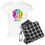 Colorful Peace Symbol Women's Light Pajamas