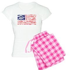Vintage Peace In America Pajamas