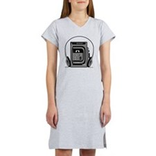 Vintage Tape Player Women's Nightshirt