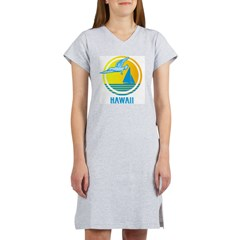 Retro Hawaii with Seagull Women's Nightshirt