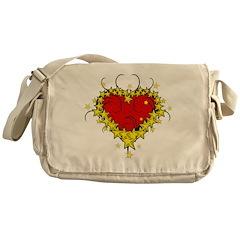 Heart Tattoo Messenger Bag
