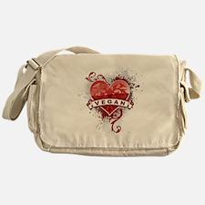 Heart Vegan Messenger Bag
