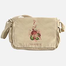 Yoga Lotus Namaste Messenger Bag