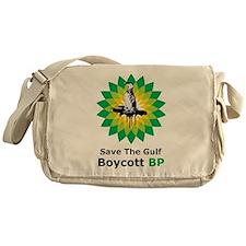 Save The Gulf Boycott BP Messenger Bag