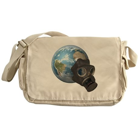 Gas Mask Earth Messenger Bag