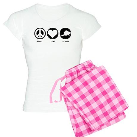 Peace Love Beaver Women's Light Pajamas