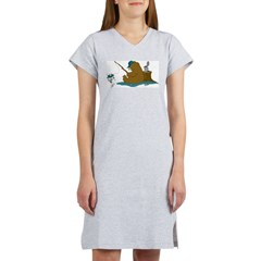 Fishing Bear Women's Nightshirt