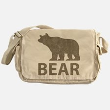 Vintage Bear Messenger Bag