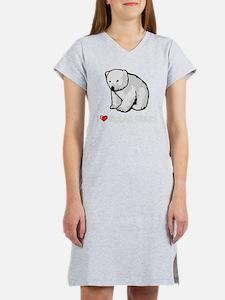 I Love Polar Bears Women's Nightshirt