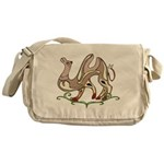 Stylized Camel Messenger Bag