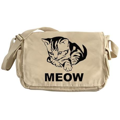 Meow Cat Messenger Bag