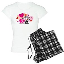 Cow & Pig In Love Pajamas