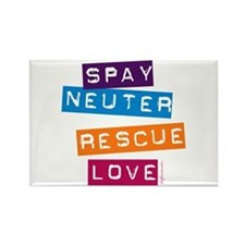 Spay Neuter Rescue Love Rectangle Magnet