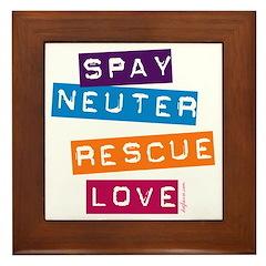 Spay Neuter Rescue Love Framed Tile