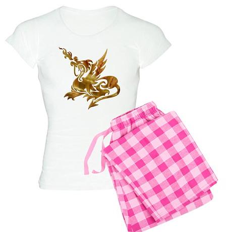 Gold Dragon Women's Light Pajamas