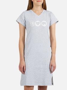 Peace Love Elephant Women's Nightshirt