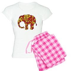 Floral Elephant Pajamas