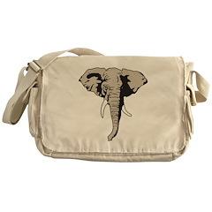 Elephant Face Messenger Bag