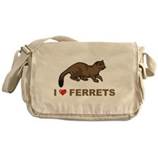 I Love Ferret Messenger Bag